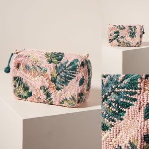 Anthropologie Shanna Embellished Pouch Pink NWT